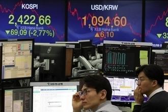미국발 충격에 '닛케이 5대 폭락' 등 亞 증시  곤두박질