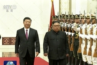 """""""시진핑, 김정은 카드 美中무역갈등에 활용"""" 블룸버그통신"""