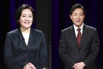 오세훈 vs 박영선, 마지막 여론조사서 15~20p 격차