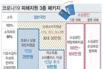 """국민 80 재난금, 고소득층은 캐시백…""""사실상 전국민 지원금"""""""